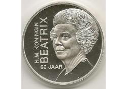 Penning Zilver Beatrix 60 jaar.