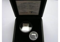 1 Gulden 2001 Zilver Proof met zilveren zegel van 12.75