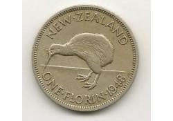 Km 18 Nieuw Zeeland 1 Florin 1948 Zf+