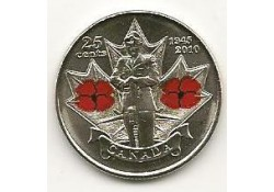 Km ??? Canada 25 cents  2010 Unc Remenbrace Day