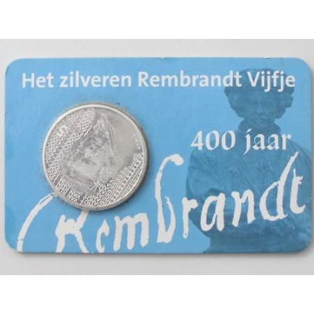 Nederland 2006 5 euro Rembrandt Unc In Coincard Uitg. HNM