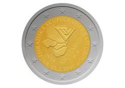 2 euro Slowakije 2011 20 jaar visegradgroep