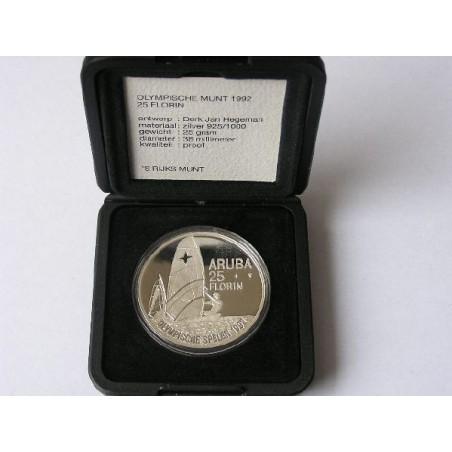 Aruba 1992 25 Florin Olympische spelen