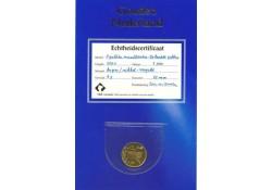 1 Gulden leeuwtje 2001 Unc Verguld