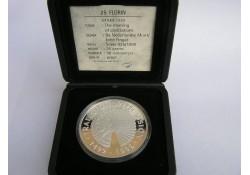 Aruba 1999 25 Florin , Amerigo Vespucci Incl dsje & cert