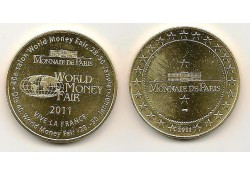 Penning Parijs Monais de Paris World Money Fair 2011
