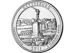 KM ??? U.S.A ¼ Dollar 2011 P Gettysburg UNC
