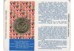 2 euro Slowakije 2011 20 jaar visegradgroep Bu in coincard