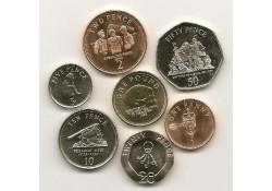 Gibraltar 2007 1 cent t/m 1 pound Unc