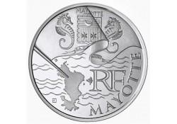 Frankrijk 2011 10 euro Zilver Mayotte Zilver Unc