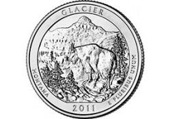 KM ??? U.S.A ¼ Dollar 2011 P Glacier UNC