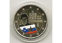 2 Euro Slovenië 2011 Franc Rozman-Stane gekleurd 122/2