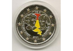 2 Euro België 2011 100 jaar int. vrouwendag Gekleurd 127/1