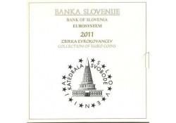Bu set SLovenië 2011 Met de 2 & 3 euromunt.