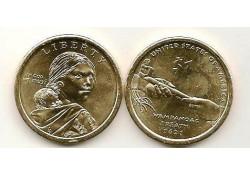 Km ??? USA 1 dollar 2011 P Native American