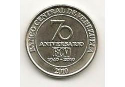 Km ??? Venuzuela 50 Centimos 2010 Unc Centrale bank