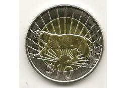 KM ??? Uruguay 10 Pesos 2011 Unc Poema