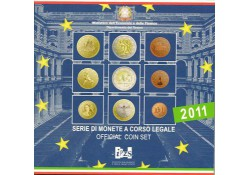 Bu set Italië 2011 met de 2 Euromunt comm.