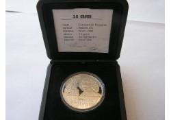 Penning 1996, 20 euro Constantijn Huygens Zilver Proof-like
