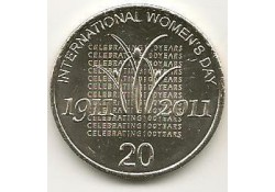 Km ??? Australië 20 cents 2011 UNC Woman's Day