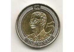 Km ??? Zuid Afrika 5 Rand Unc 2008 Nelson Mandela 90 jaar