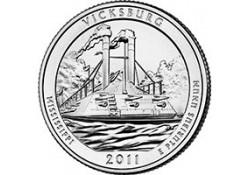 KM ??? U.S.A ¼ Dollar 2011 P Vicksburg UNC