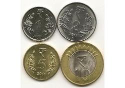 Km ??? India 1/2/5/en 10 Rupees 2011 Unc