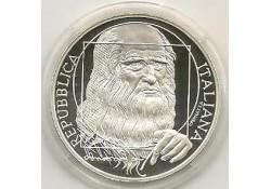 Italië 2006 10 Euro Zilver Leonardo da Vinci Proof