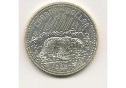 Km 128 Canada 1 Dollar 1980 Proof incl orig. doosje