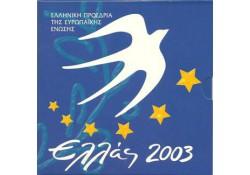 Bu set Griekenland 2003 met 10 euro Presidentschap