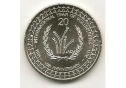 Km ??? Australië 20 cent 2011 UNC Year of the Volenteers