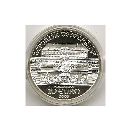 10 Euro Oostenrijk 2003, Schloss Hof Proof incl. Orig doosje & c