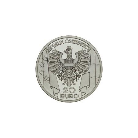 Oostenrijk 2003 20 euro Nachkriegszeit Proof Incl dsje & cert