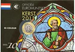 Nederland 2011  kerstset deel 10 2 euro Eras.