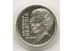 Penning zilver Beatrix 60 jaar