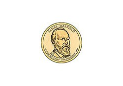 KM ??? U.S.A. 20th President Dollar 2011 P Garfield