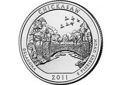 KM ??? U.S.A ¼ Dollar 2011 P Chickasaw UNC