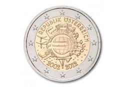 2 Euro Oostenrijk 2012 10 jaar Euro Unc
