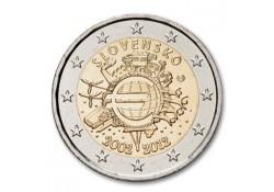 2 Euro Slowakije 2012 10 jaar Euro Unc