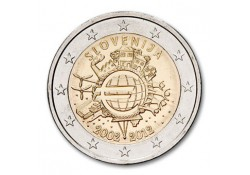 2 euro Slovenië 2012 10 jaar euro Unc