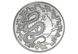 Frankrijk 2012 10 Euro Jaar van de Draak Incl doosje & Cert.