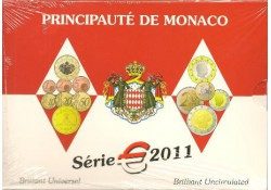 Monaco 2011 Bu set incl. de 2 euro comm.