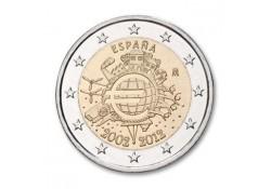 2 Euro Spanje 2012 10 Jaar Euro Unc