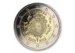 2 Euro Luxemburg 2012 10 jaar Euro. UNC