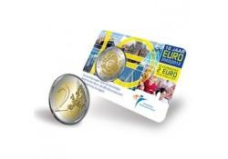 Nederland 2012 2 Euro 10 jaar Euro Bu in Coincard