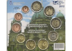 Bu set Spanje 2012 World Money Fair Berlin met 3x 2 euro