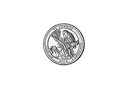 KM ??? U.S.A ¼ Dollar 2012 P El Yunque UNC