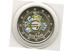 2 Euro België 2012 10 jaar Euro Gekleurd 137/2