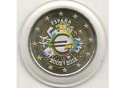 2 Euro Spanje 2012 10 Jaar Euro Gekleurd 157/2
