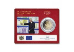 2 Euro Luxemburg 2012 10 jaar Euro. Bu in Coincard
